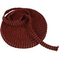 Tubstickat, B: 15 mm, gml. Röd/grå, 10 m/ 1 rl.