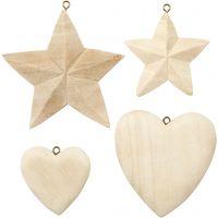 Hjärtan och stjärnor, 4 st./ 1 förp.