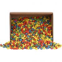 Mosaiksten, stl. 8-10 mm, tjocklek 5 mm, starka färger, 2 kg/ 1 förp.