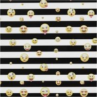 Presentpapper smiley, 100 m/ 1 rl.