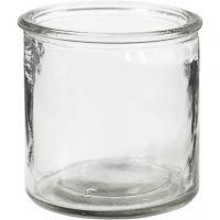 Ljusglas, H: 7,8 cm, 6 st./ 1 låda
