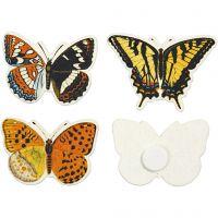 Fjärilar, stl. 45x33 mm, 75 st./ 1 förp.