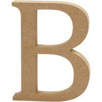 Bokstav, B, H: 13 cm, tjocklek 2 cm, 1 st.