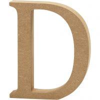Bokstav, D, H: 13 cm, tjocklek 2 cm, 1 st.