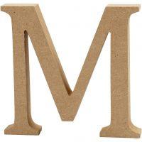 Bokstav, M, H: 13 cm, tjocklek 2 cm, 1 st.