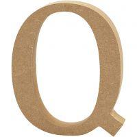 Bokstav, Q, H: 13 cm, tjocklek 2 cm, 1 st.