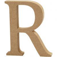Bokstav, R, H: 13 cm, tjocklek 2 cm, 1 st.