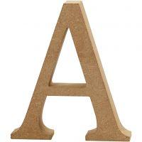 Bokstav, A, H: 8 cm, tjocklek 1,5 cm, 1 st.