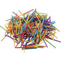 Tändstickor , L: 5 cm, mixade färger, 500 g/ 1 förp., 4300 st.