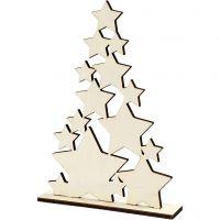 Julgran, H: 29,8 cm, djup 4 cm, B: 21,5 cm, 1 st.