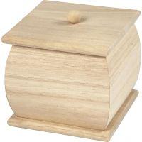 Minibox med lock, stl. 7,5x7,5x8 cm, 1 st.