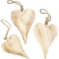 Hjärta, H: 9,5+15 cm, Innehållet kan variera , 6 st./ 1 förp.