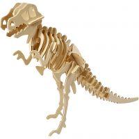 3D konstruktionsfigur, Dinosaurie, stl. 33x8x23 cm, 1 st.