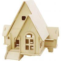 3D konstruktionsfigur, Hus med ramp, stl. 22,5x17,5x20,5 , 1 st.