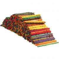 Konstruktionspinnar, L: 11,4 cm, B: 10 mm, mixade färger, 1000 st./ 1 förp.