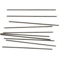 Metallstång, L: 10 cm, Dia. 2 mm, 10 st./ 1 förp.