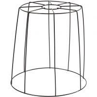 Lampskärm, H: 20 cm, Dia. 15,5-20 cm, svart, 1 st.