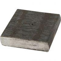 Metallfot, stl. 4x4x1 cm, Hålstl. 2 mm, 1 st.