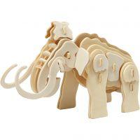 3D konstruktionsfigur, mammut, stl. 19x8,5x11 cm, 1 st.