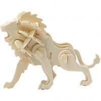 3D konstruktionsfigur, lejon, stl. 18,5x7x7,3 , 1 st.