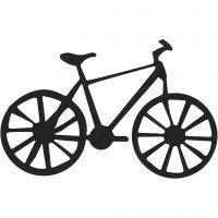 Kartongetiketter, cykel, stl. 77x48 mm, svart, 10 st./ 1 förp.