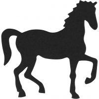 Kartongetiketter, häst, stl. 60x64 mm, svart, 10 st./ 1 förp.