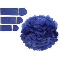 Papperspompomer, Dia. 20+24+30 cm, 16 g, mörkblå, 3 st./ 1 förp.