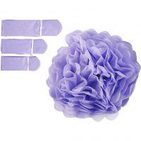 Papperspompomer, Dia. 20+24+30 cm, 16 g, lila, 3 st./ 1 förp.