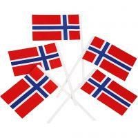 Tårtflaggor, stl. 30x50 mm, 100 st./ 1 förp.