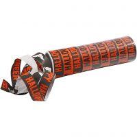 Serpentiner, svart, orange, 2 rl./ 1 förp.