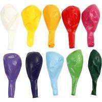 Ballonger, runda, Dia. 23 cm, mixade färger, 10 st./ 1 förp.