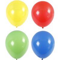 Ballonger, stora, Dia. 41 cm, blå, grön, röd, gul, 4 st./ 1 förp.
