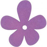 Blommor, stl. 57x51 mm, tjocklek 2 mm, lila, 10 st./ 1 förp.
