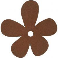 Blommor, stl. 57x51 mm, tjocklek 2 mm, brun, 10 st./ 1 förp.