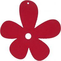 Blommor, stl. 57x51 mm, tjocklek 2 mm, mörkrosa, 10 st./ 1 förp.