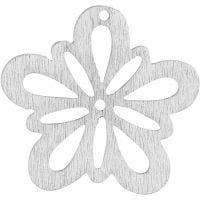 Blommor, Dia. 27 mm, tjocklek 1,7 mm, vit, 20 st./ 1 förp.