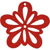 Blommor, Dia. 27 mm, röd, 20 st./ 1 förp.