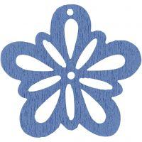 Blommor, Dia. 27 mm, tjocklek 1,7 mm, ljusblå, 20 st./ 1 förp.