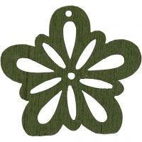 Blommor, Dia. 27 mm, mörkgrön, 20 st./ 1 förp.