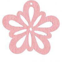 Blommor, Dia. 27 mm, rosa, 20 st./ 1 förp.