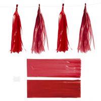 Tofs, stl. 12x35 cm, 14 g, vinröd/röd, 12 st./ 1 förp.