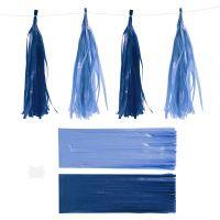 Tofs, stl. 12x35 cm, 14 g, mörkblå/ljusblå, 12 st./ 1 förp.