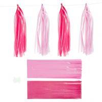 Tofs, stl. 12x35 cm, rosa, ljusröd, 12 st./ 1 förp.