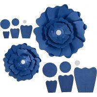 Pappersblommor, Dia. 15+25 cm, 230 g, blå, 2 st./ 1 förp.