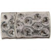 Magnetlås, stl. 7x29 mm, Hålstl. 3x10 mm, antiksilver, 1 st.
