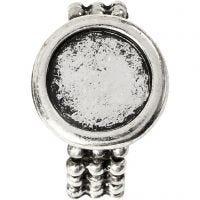 Cabochon ring, Dia. 19 mm, Hålstl. 14 mm, antiksilver, 1 st.