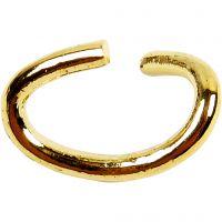 Ovala ringar, tjocklek 0,7 mm, förgylld, 50 st./ 1 förp.