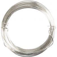 Försilvrad tråd, tjocklek 0,6 mm, försilvrad, 10 m/ 1 rl.