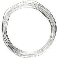 Försilvrad tråd, tjocklek 1,2 mm, försilvrad, 3 m/ 1 rl.