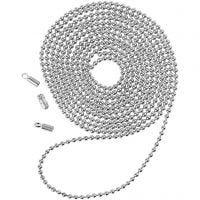 Kulkedja, Dia. 1,5 mm, försilvrad, 1 m